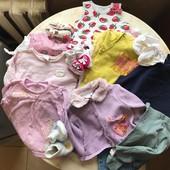 Пакет вещей на девочку 25 шт на возраст с 0 до годика