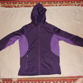 Отличная фиолетово сиреневая флисовая велокуртка с капюшоном Crivit 46