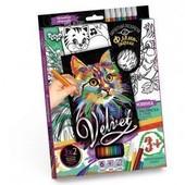 Набор креативного творчества Бархатная раскраска фломастерами Velvet
