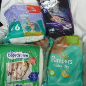 Памперсы поштучно, Pampers 4+, 5, Bella 6, Libero 9