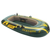 Двухместная надувная лодка Intex 68346 Seahawk 2 (236*114*41 см)