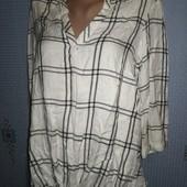 Рубашка белая в клетку
