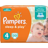 Подгузники Pampers Sleep & Play Размер 4 Maxi 8-14 кг, 50 шт.