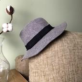Сірий шерстяний капелюх