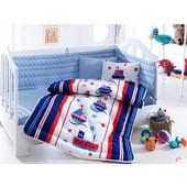 Набор в кроватку Cotton Box bebek с одеялом и защитой