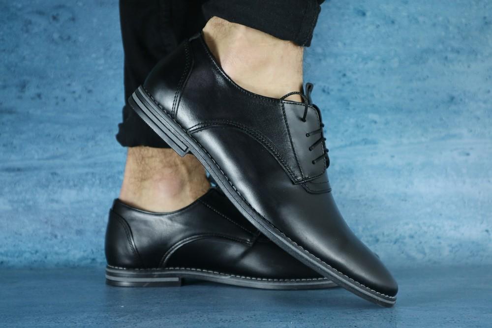 Туфли мужские классика, кожаные, р. 39-45, код gavk-10611 фото №1