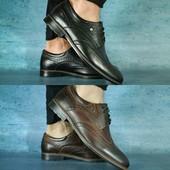 Туфли Vivaro, кожаные, р. 40-45, код gavk-10597