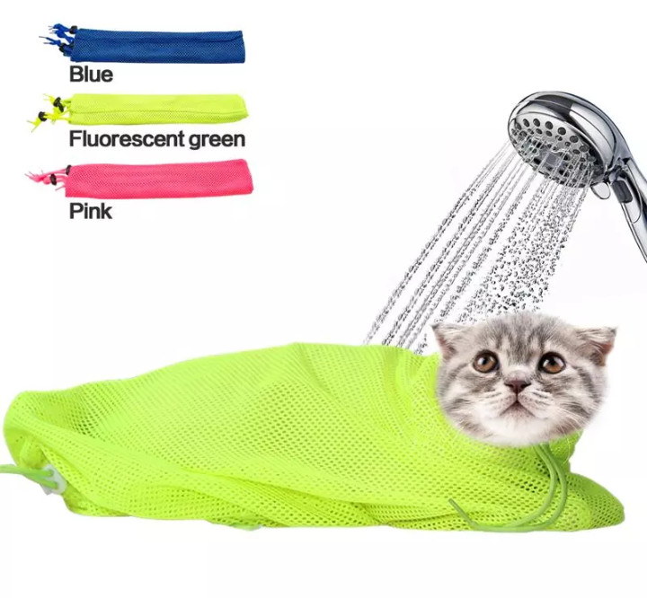 Мешок для купания и грумминга кошек/котов, новый фото №1