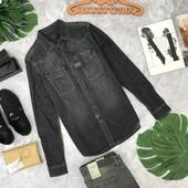 Джинсовая рубашка из темного денима от Zara  BL180402