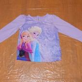 12-18 мес, р. 80-86 см реглан Frozen Marks&Spencer футболка фирменная с длинным рукавом