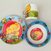 Керамический набор детской посуды Слоник