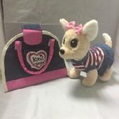 Собачка в сумочке Кикки M 3218-N-RU джинсовый стиль