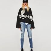 Шикарные джинсы с вышивкой, заклепками ZARA, 38р, оригинал Испания