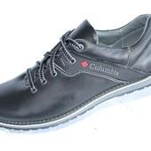 Мужские кожаные туфли черного цвета М20