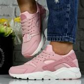 Кроссовки Nike Air Huarache копия, кроссовки хуараче розовые