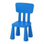 Дитяче крісло синє маммут ІКЕА десткое кресло синее