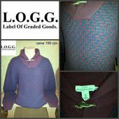 L.O.G.G. оригинал , размер L, цвет бордово фиолетовый. 50% шерсть