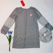 Теплое платье туника+шарф хомут от производителя 128-152