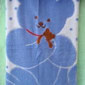 Детское махровое льняное полотенце , простынь , плед 110х110 см