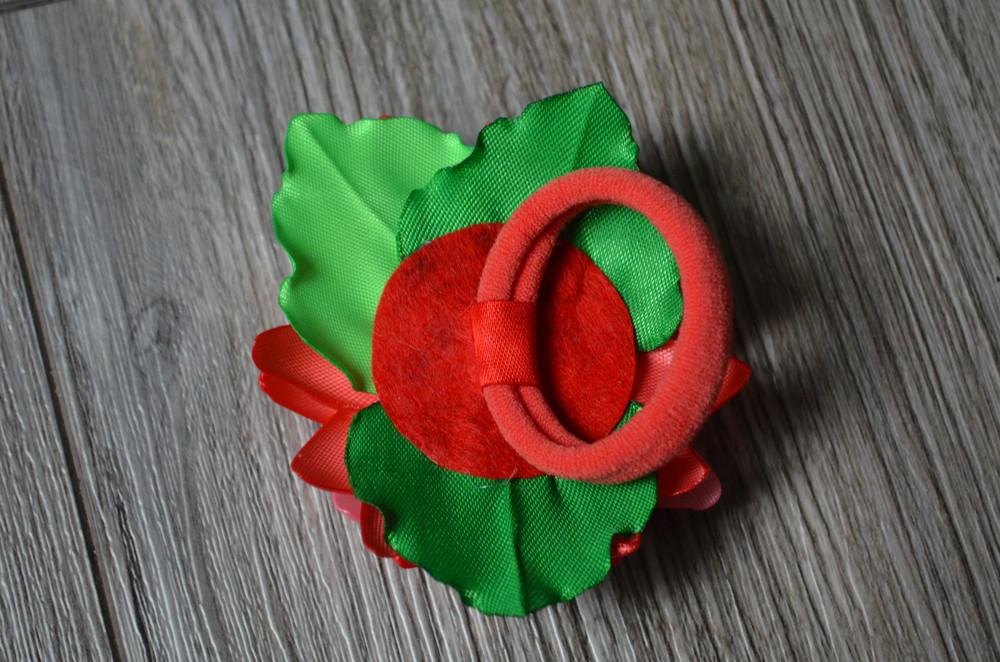 Резиночка для волос - лилия фото №3