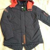 Куртка деми парка. рост 4-12 лет