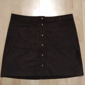 Фирменная велюровая юбка L