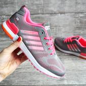 Кроссовки женские сетка Situo sport gray/pink