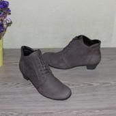 39 25,5см Gabor Нубуковые ботинки на небольшом каблучке