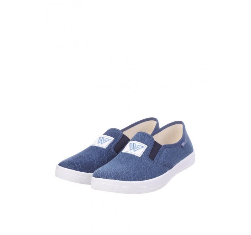 Мокасины для мальчика waldi 33, 34, 35, 38(р) синий 225-495  текстильные тапочки waldi изготовлены и фото №1