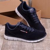 Стильные замшевые мужские кроссовки синего цвета
