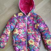 Новая! Демисезонная курточка для девочки на рост 128 см
