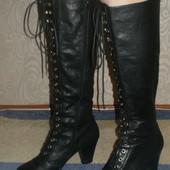 Кожаные деми сапоги на шнуровке Vagabond (Вагабонд) 40р  стелька 26см.