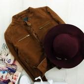 M_L Замшевая куртка в байкерском стиле zara