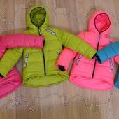 """Зимние куртки для девочек """"Вероника"""" (122,128,134,140)"""