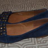новые балетки туфли Clarks кожа 23.5 см 36-37 размер Англия
