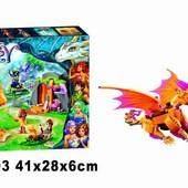 Конструктор Bela Fairy Лавовая пещера дракона огня 10503
