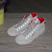 38 24см Adidas Замшевые кеды ботинки кожа