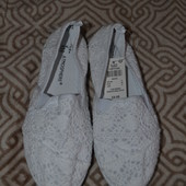 новые мокасины слипоны Atmоsphere 22.5 см Англия 35-36 размер