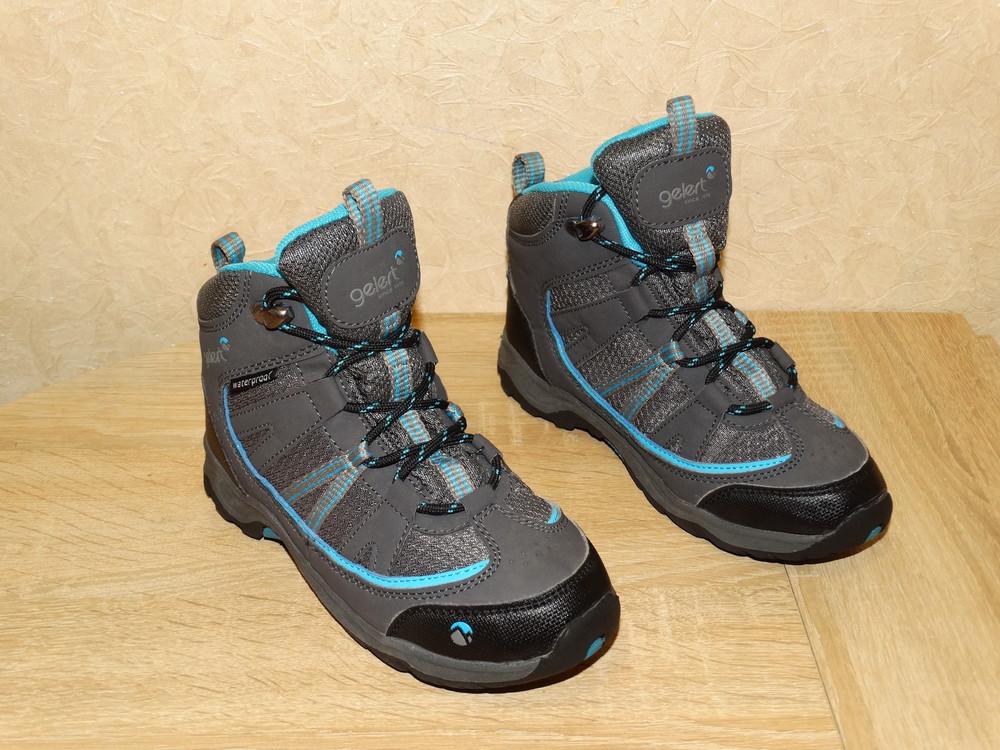 Р.32 треккинговые ботинки gelert на мембране , по стельке 20,5 см. фото №1