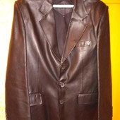 Кожаный пиджак мужской. Размер XL