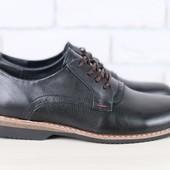 Туфли мужские, р 40-45, натур кожа, код ks-2426