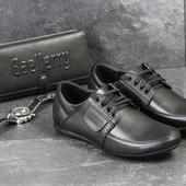 Туфли мужские кожа Van Kristi Black