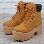 Ботинки женские на платформе Jeffrey Campbell Nirvana Yellow Boot style