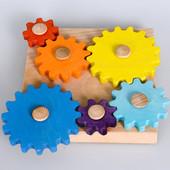 Деревянная игрушка головоломка Шестеренки, ПР-009, Тато
