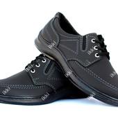 42 и 43 р Туфли мужские на шнуровку демисезонные (КЛА-12ч)
