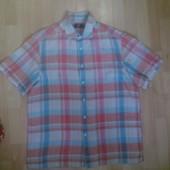 Фирменная льняная рубашка L