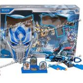 Набор оружие Optimus Prime трансформер, маска со светом, пистолет с мягкими пулями, мишень