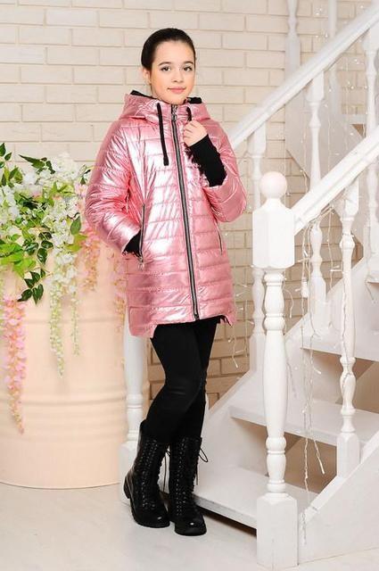 Демисезонная куртка вилена-2 серебро ffe2e1bc89750