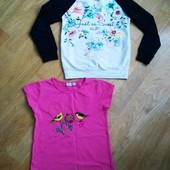 Реглан и футболка для девочки на рост 128-134 см