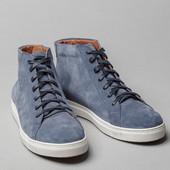 Кеды мужские кожаные голубого цвета ,40-45, Мтл,33